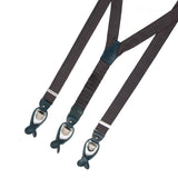 Brown Pattern Silk Suspenders - serafinesilk