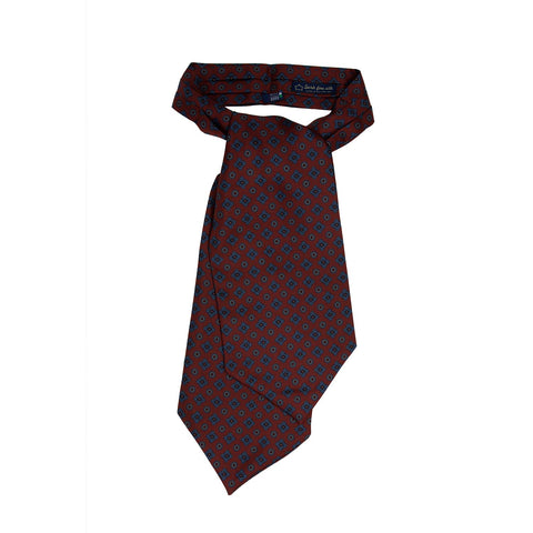 Peach Zig Zag V Point Knitted Tie