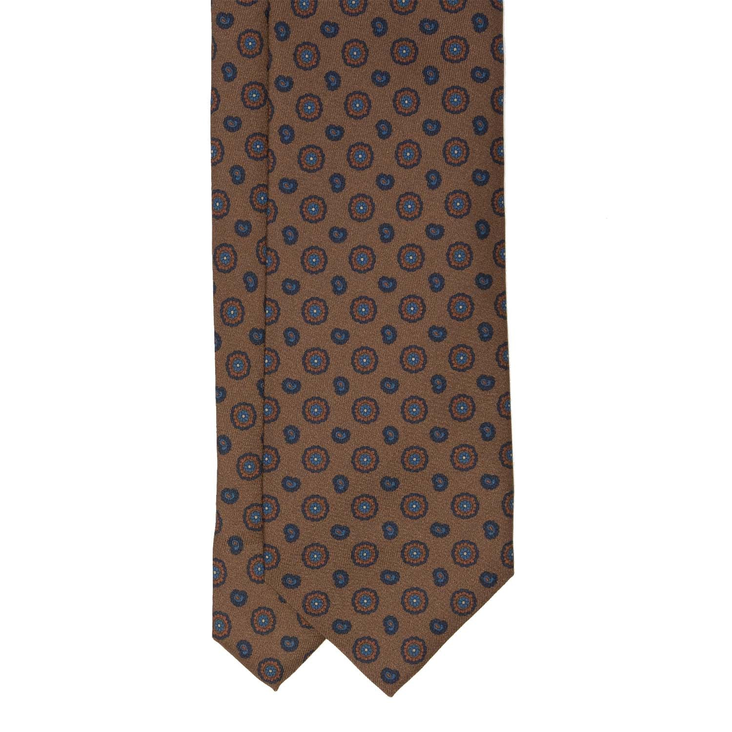 Brown Pattern Silk Tie