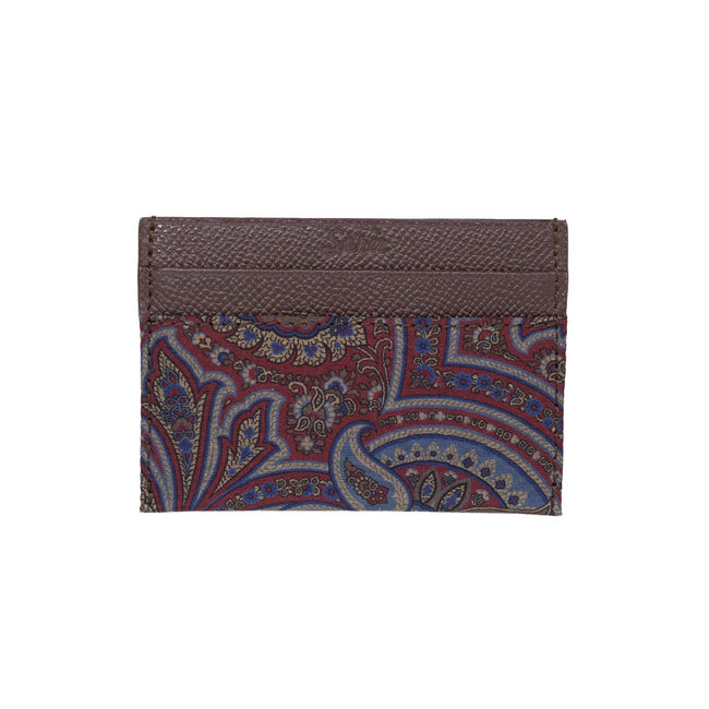 Serà fine silk - Brown and Burgundy Paisley Card Holder