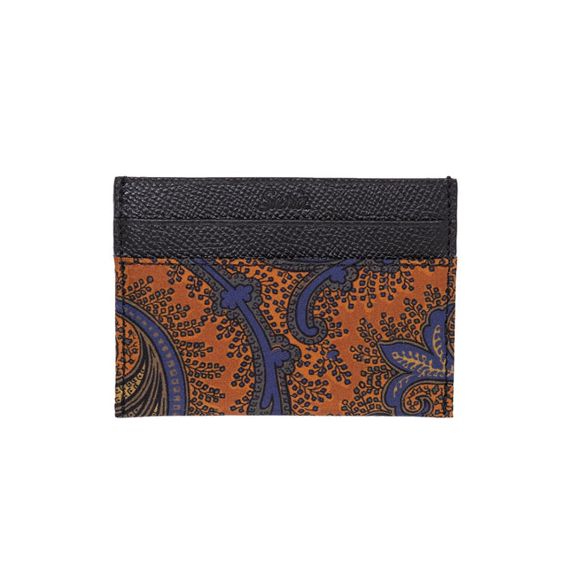 Serà fine silk - Orange Floral Paisley Card Holder