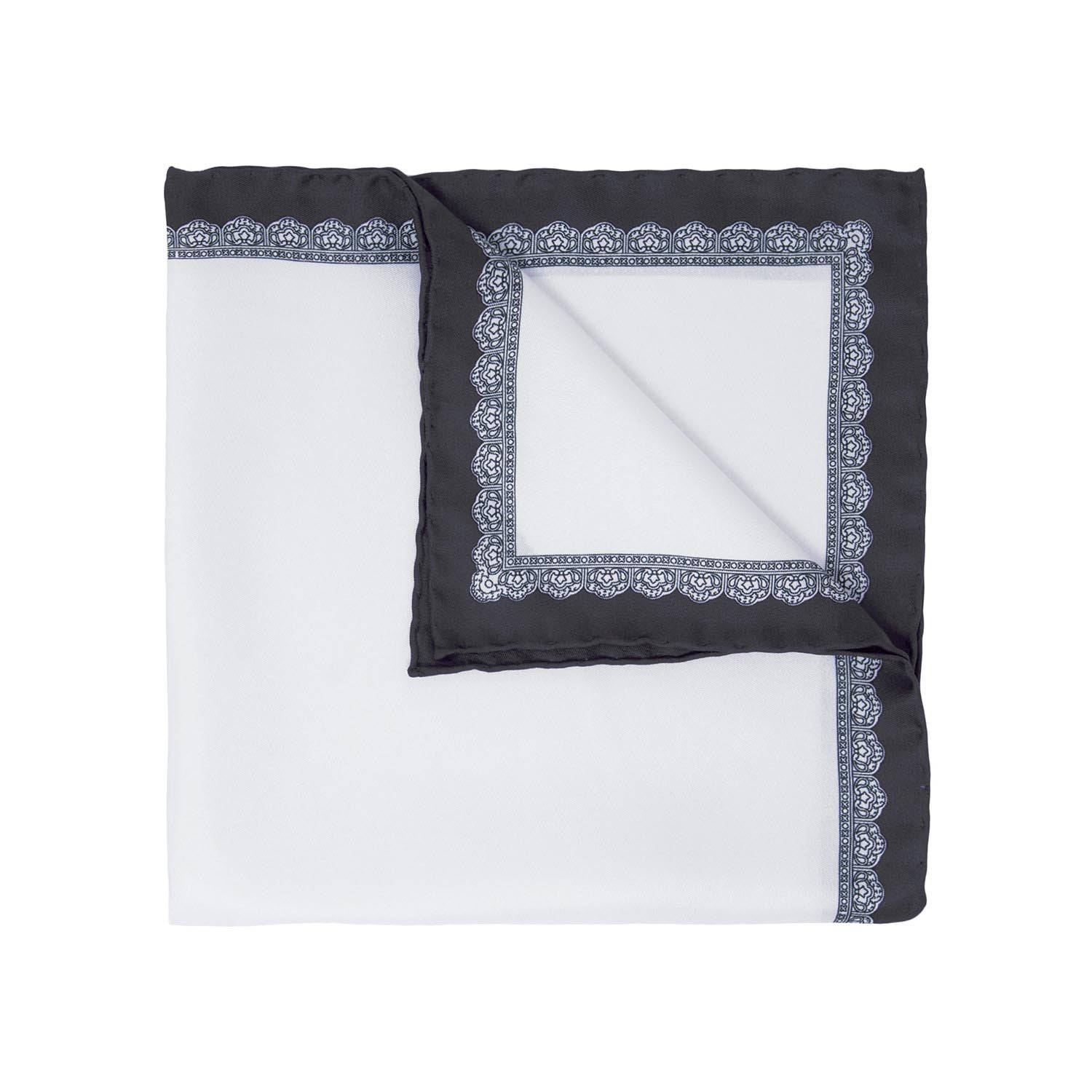 serà fine silk pocket square - Dark Grey Essential
