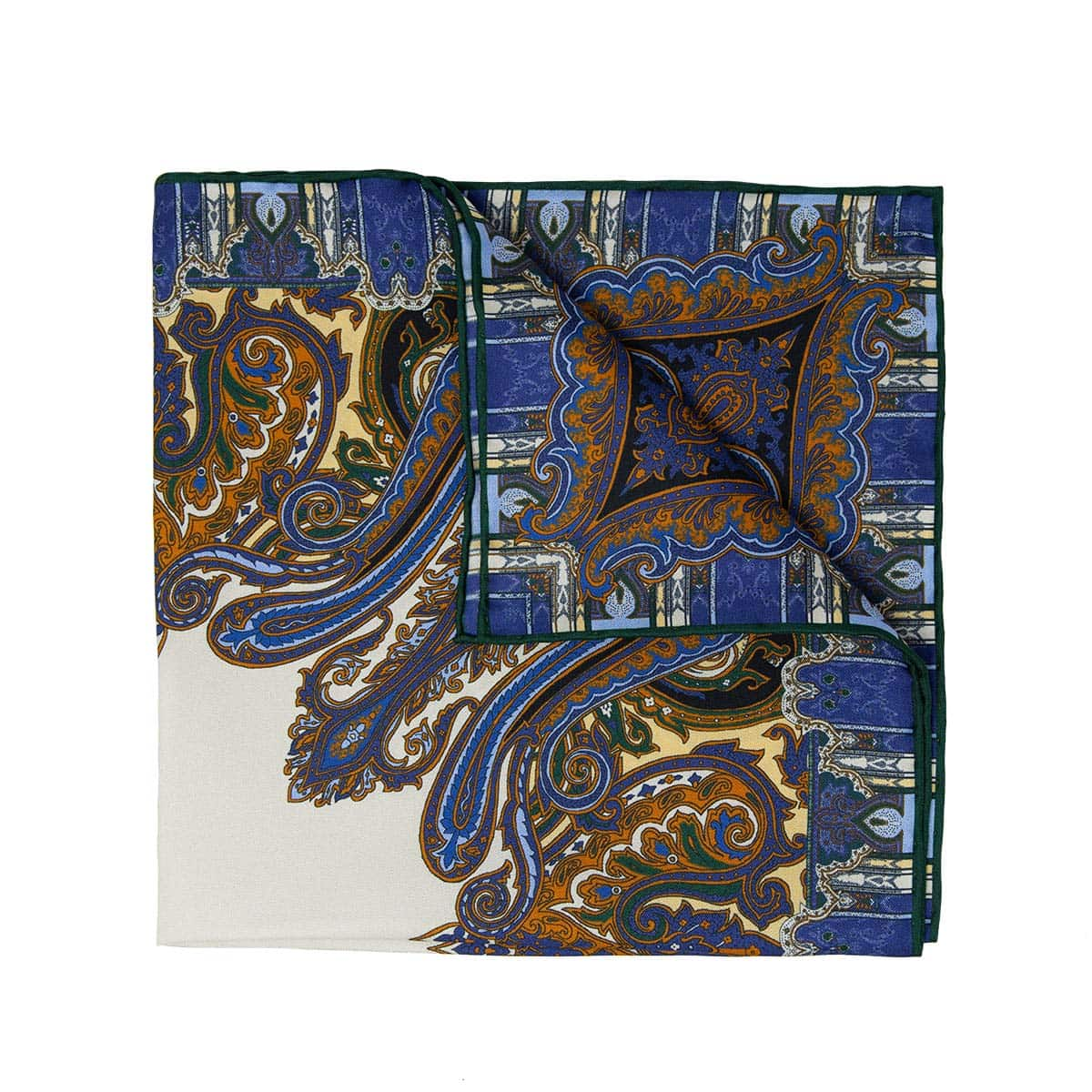 Serà fine silk - italian cities pocket square - Cortina