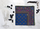 SERà FINE SILK - pocket square Recioto Blueberry