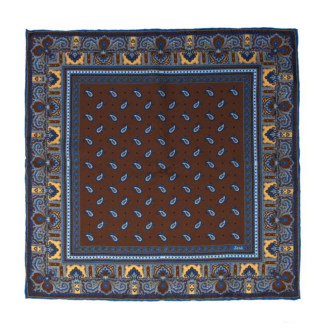SERà FINE SILK - pocket square Recioto Chocolate