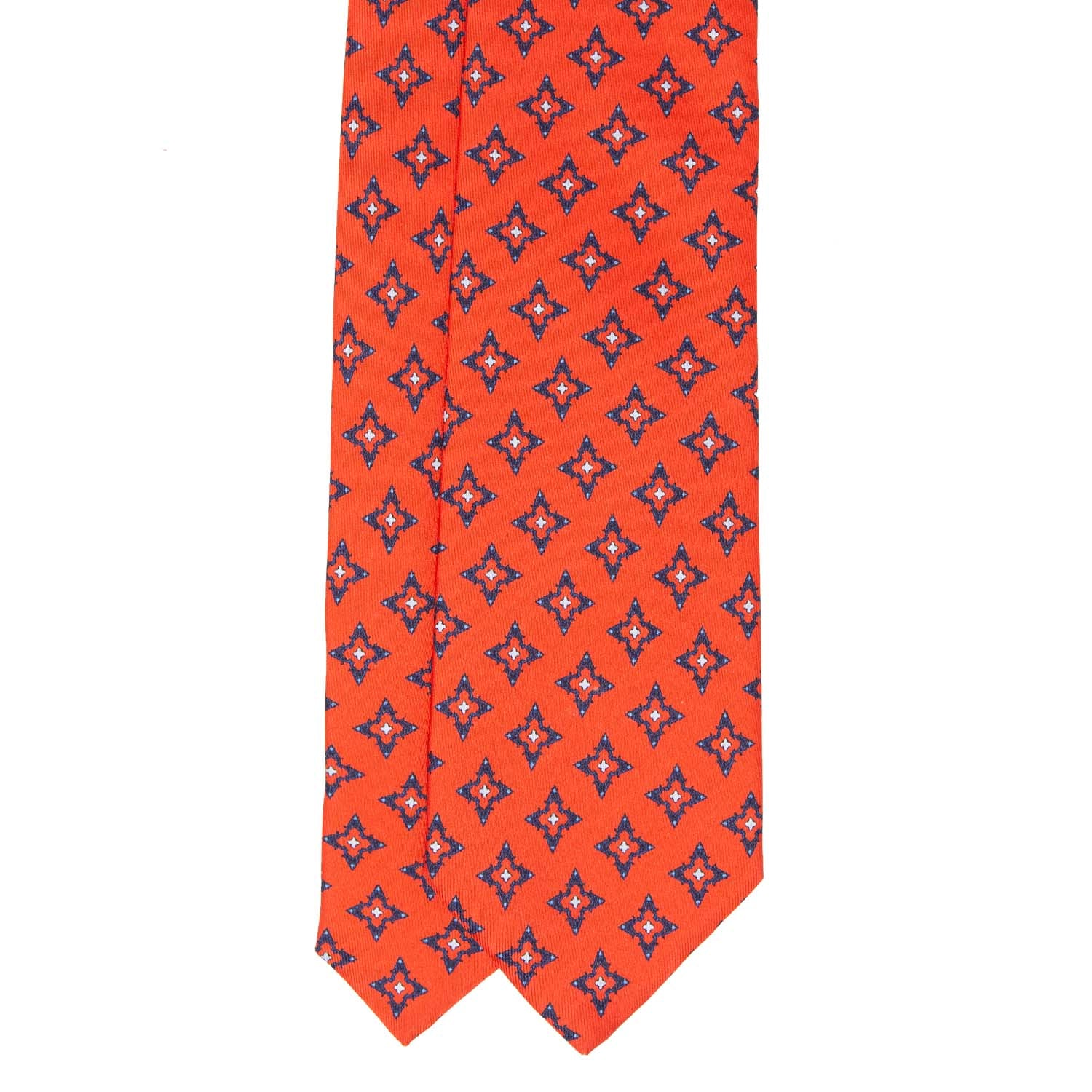Scarlet Diamonds Silk Printed Tie
