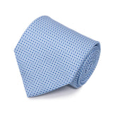 Serà fine silk - Light Blue with Small Dots Silk Tie