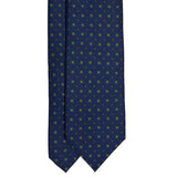 serà fine silk - Navy Blue with small flowers Pattern Silk Tie