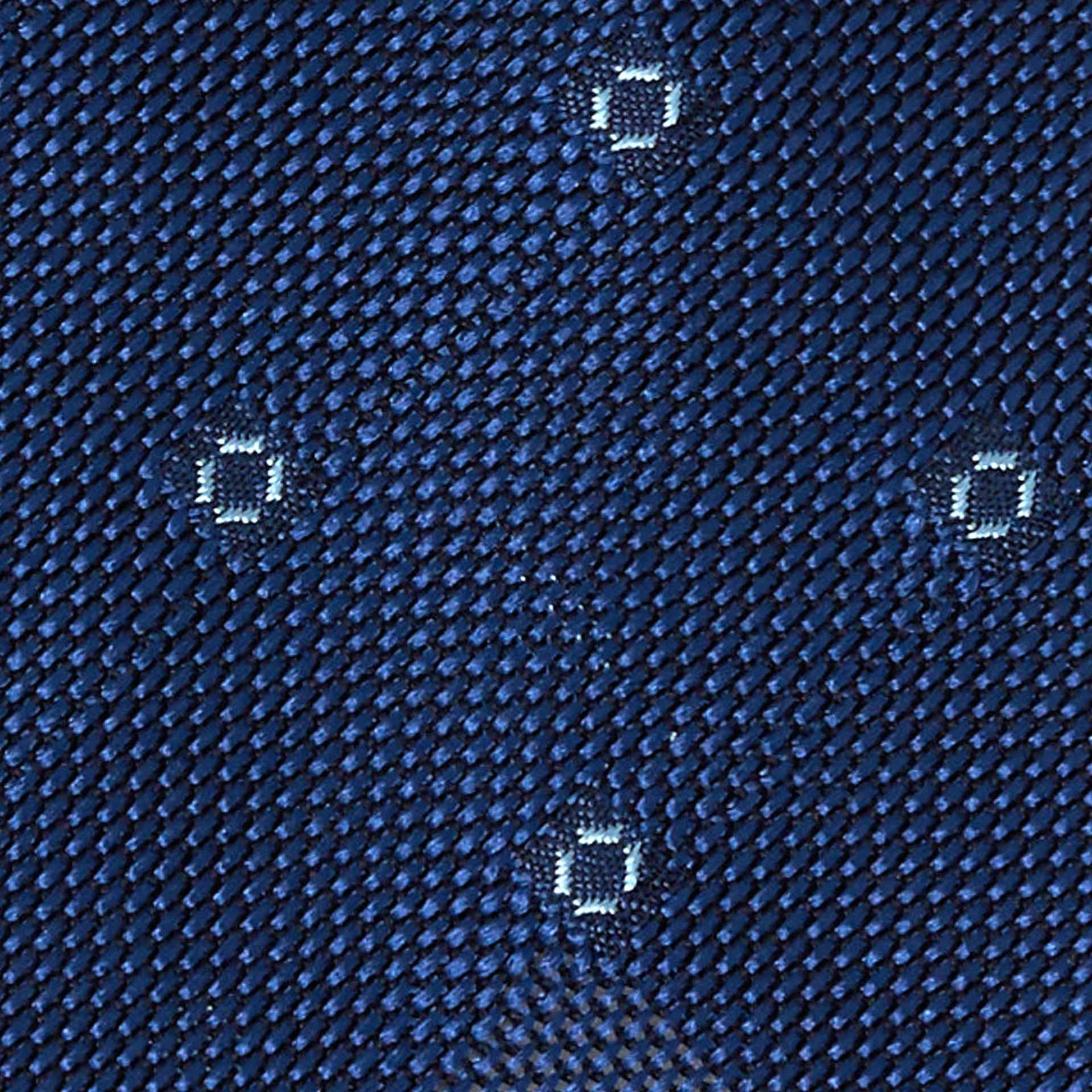Blue with Light Blue Dots Grenadine Silk Tie - serafinesilk