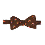 Brown Birds Wool Pattern Bow Tie - serafinesilk