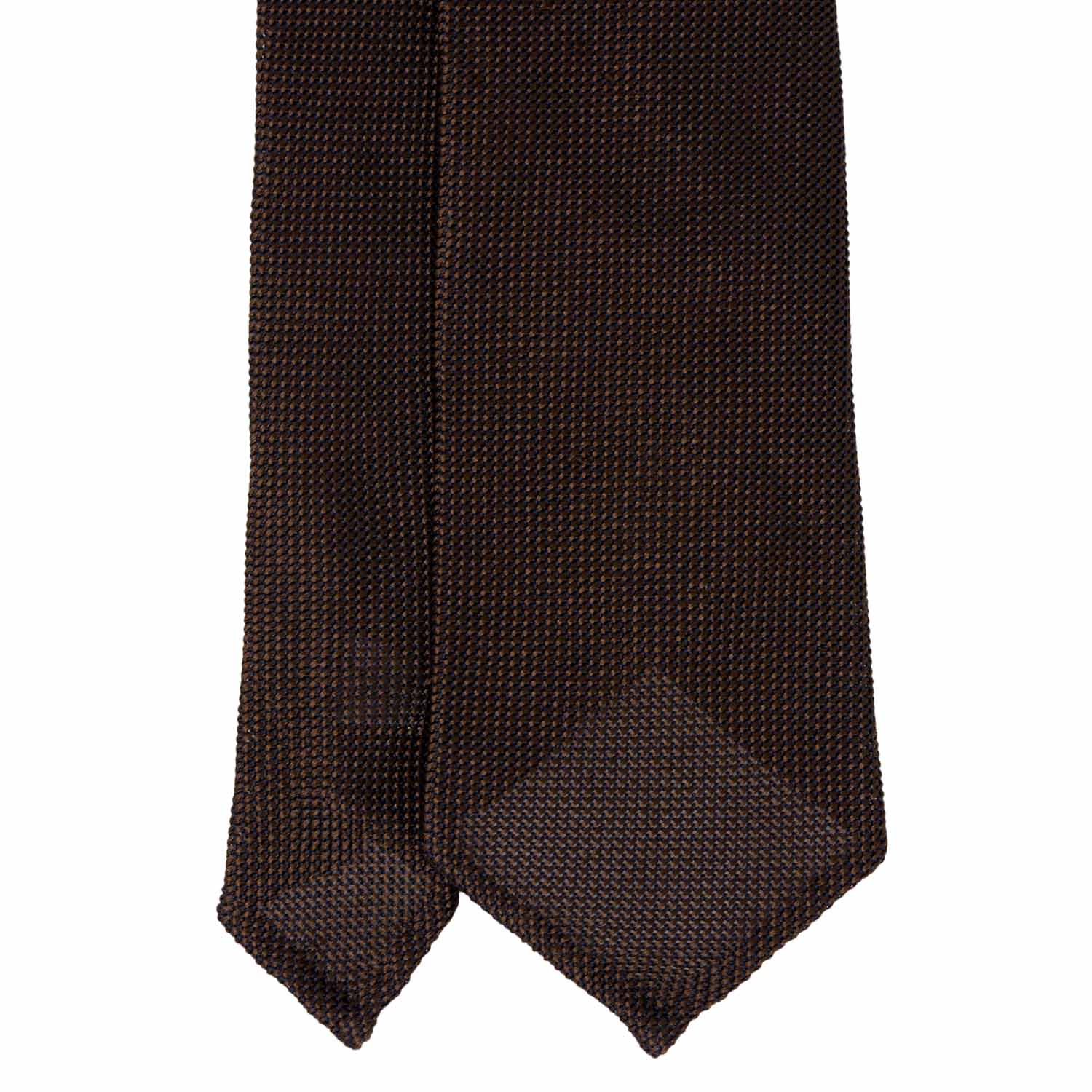 Brown Grenadine Silk Tie - serafinesilk