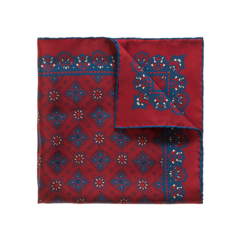 Red Boats Pattern Silk face cover