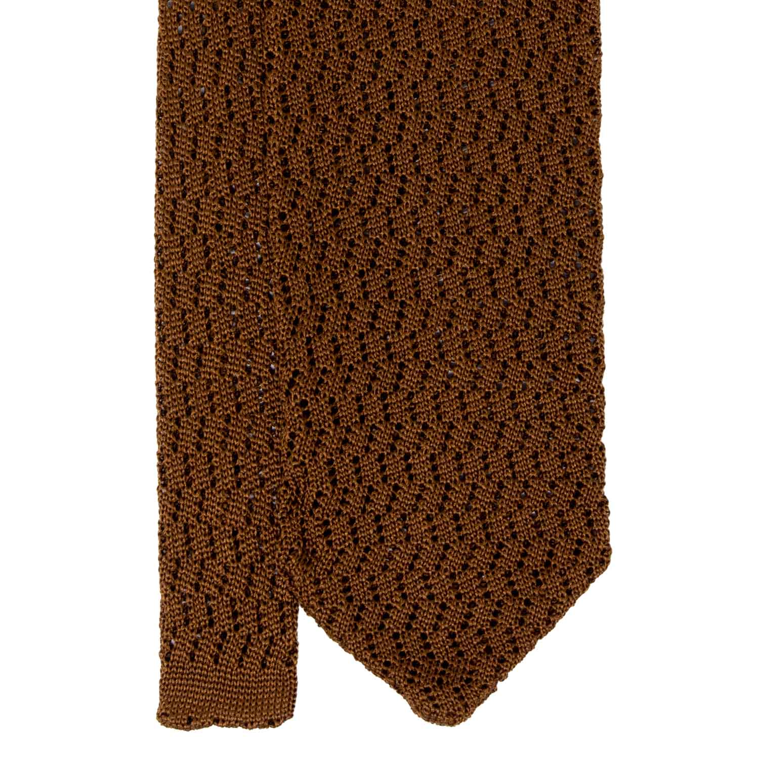 Havana Zig Zag V Point Knitted Tie - serafinesilk