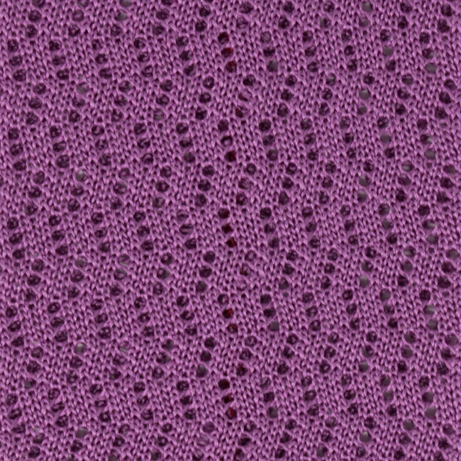 Liliac Zig Zag V Point Knitted Tie - serafinesilk