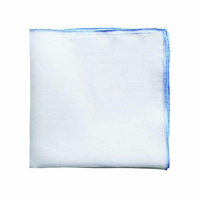 Light Blue Linen Pocket Square - serafinesilk