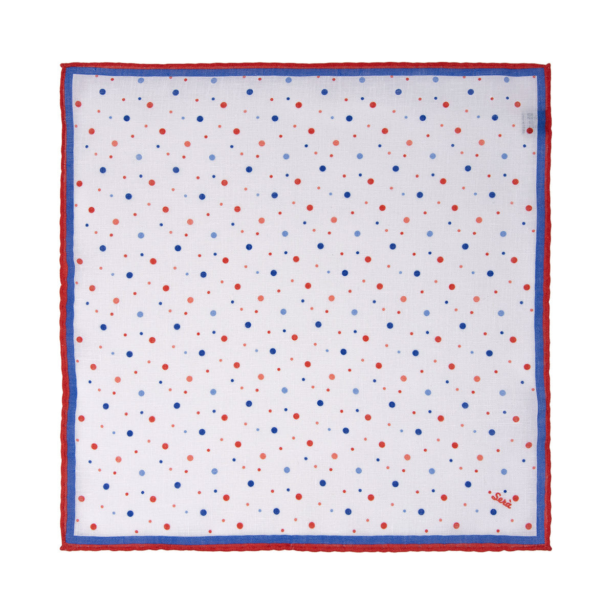Orange Dots Linen Pocket Square - serafinesilk