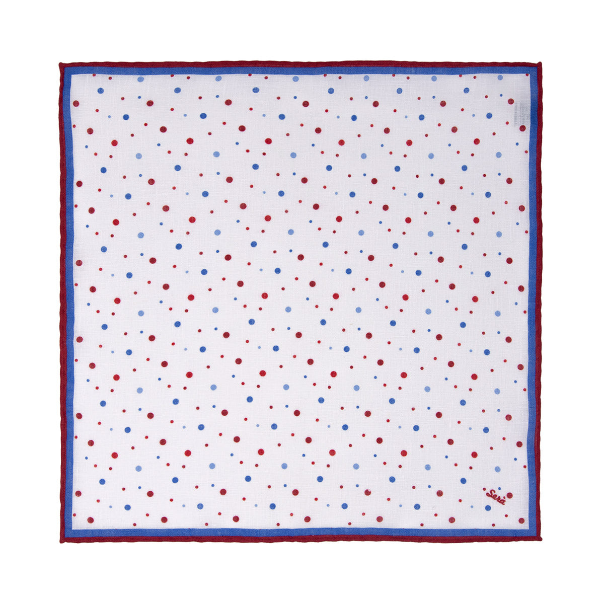Red Dots Linen Pocket Square - serafinesilk