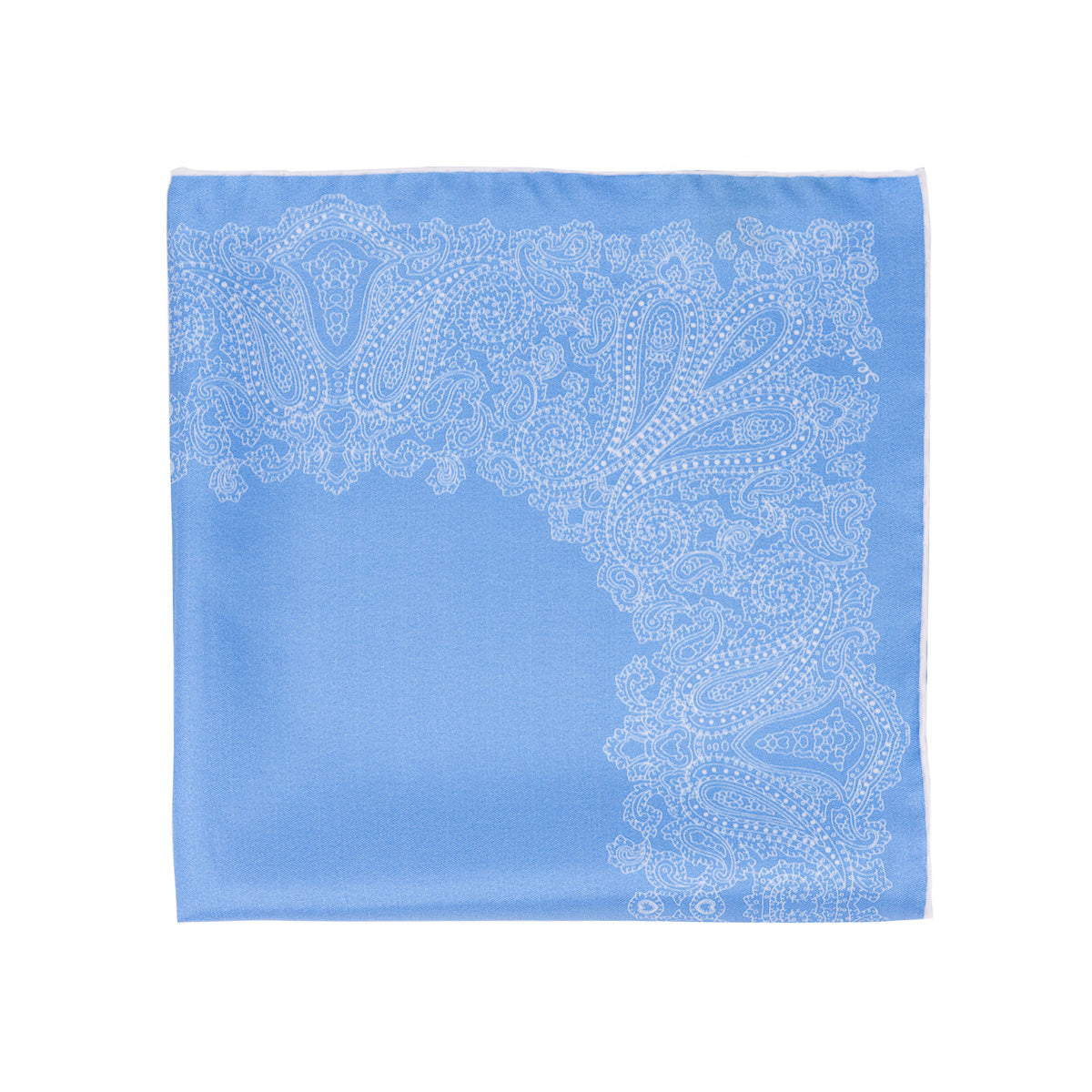 Sea Foam Pocket Square - serafinesilk