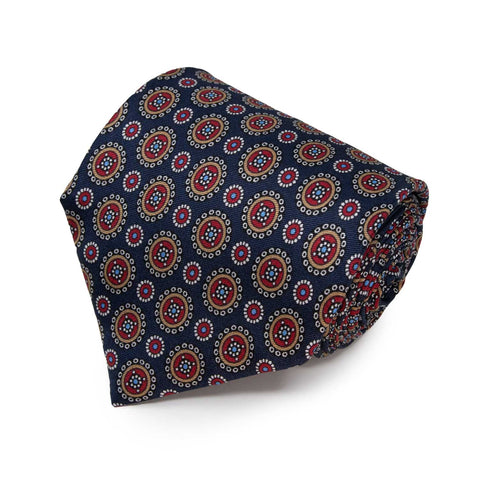 Orange Paisley Silk face cover