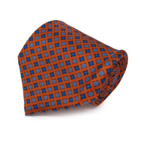 Purple and Orange Striped Zig Zag Knitted Tie