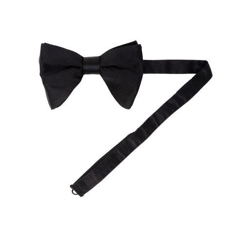 Black Self-Tie Silk 3D pattern pointed tip Bow Tie