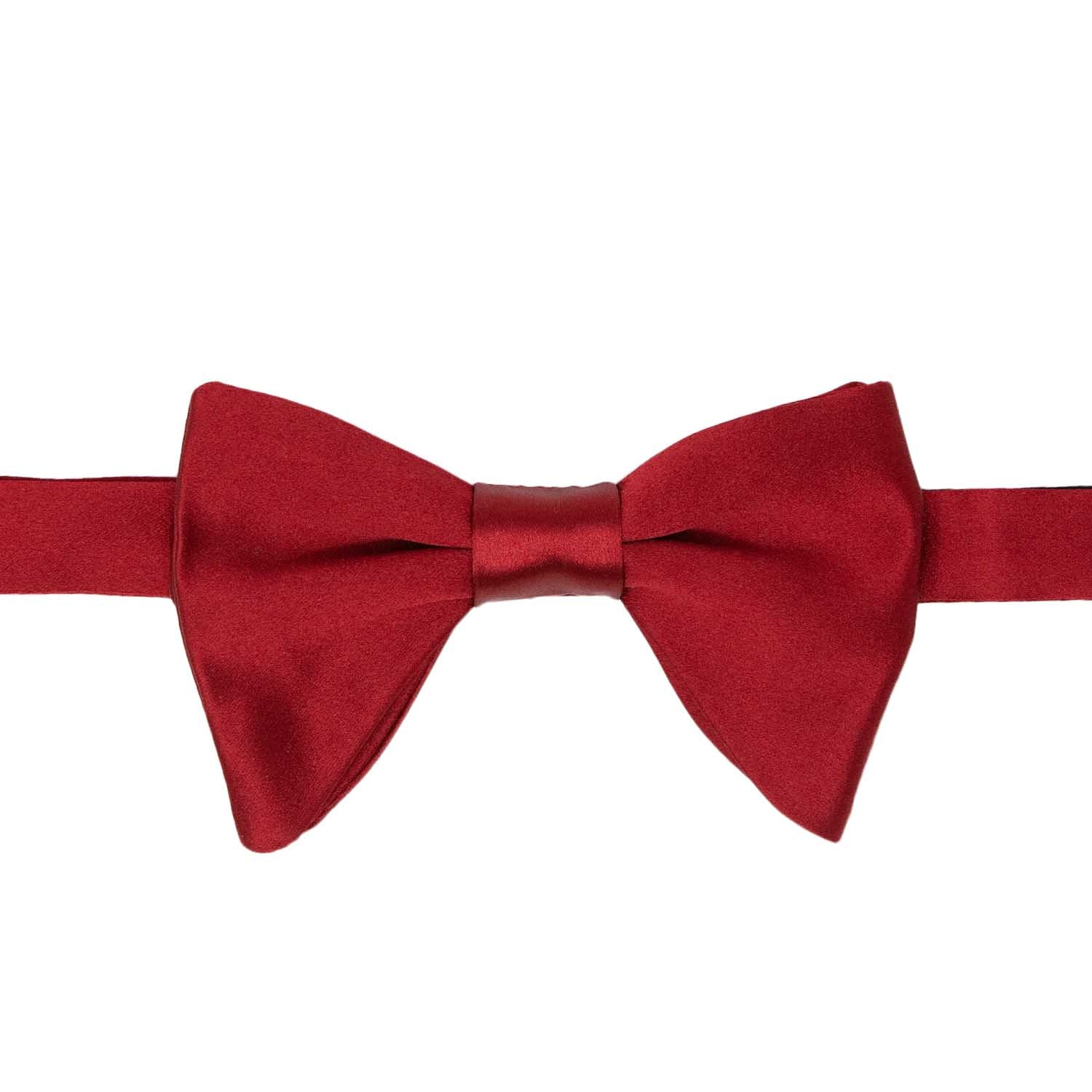 Red Satin silk Butterfly Bow Tie - serafinesilk