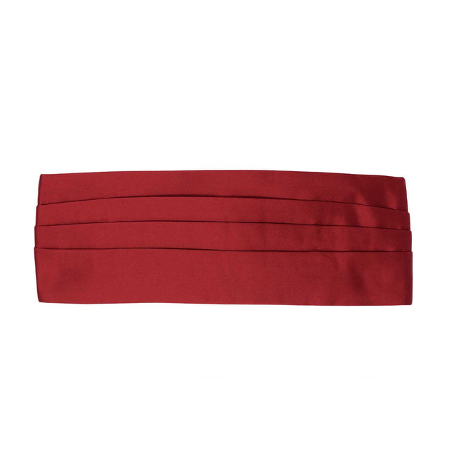 Red Silk 4 Pleat Cummerbund