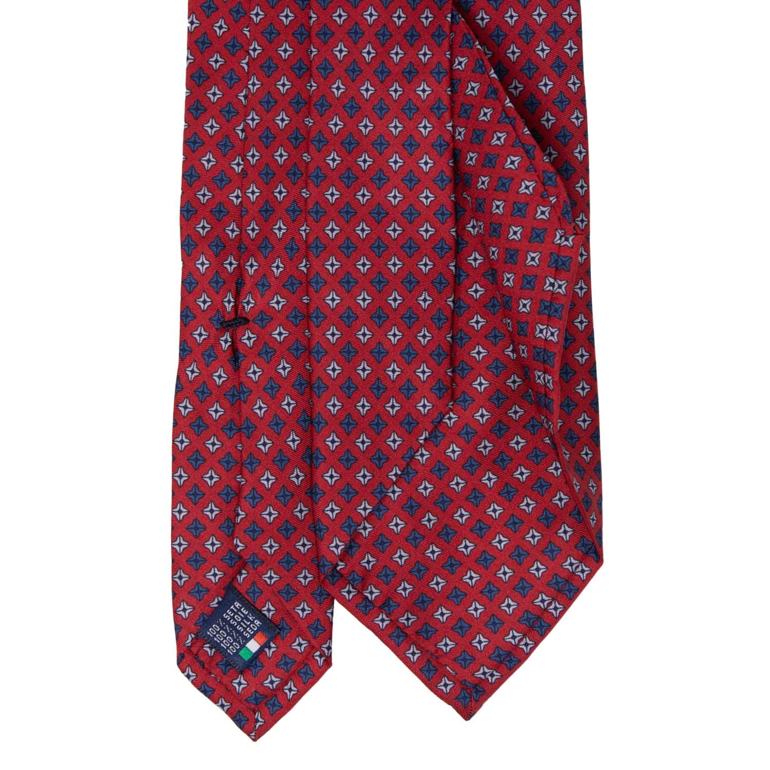 Red with Square Dots Pattern Silk Tie - serafinesilk