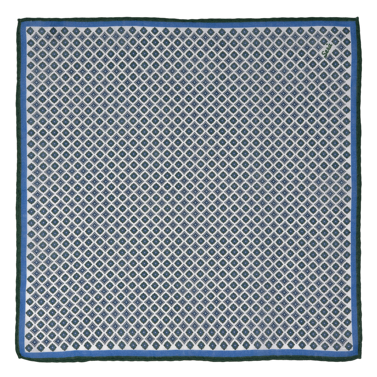 Green Rombs Pocket Square - serafinesilk