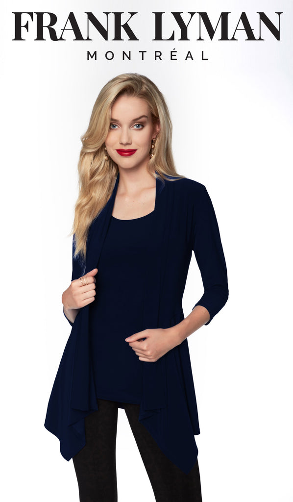 Pardessus en Knit Frank Lyman - 024 DNAVY - Gaby Style & Passion