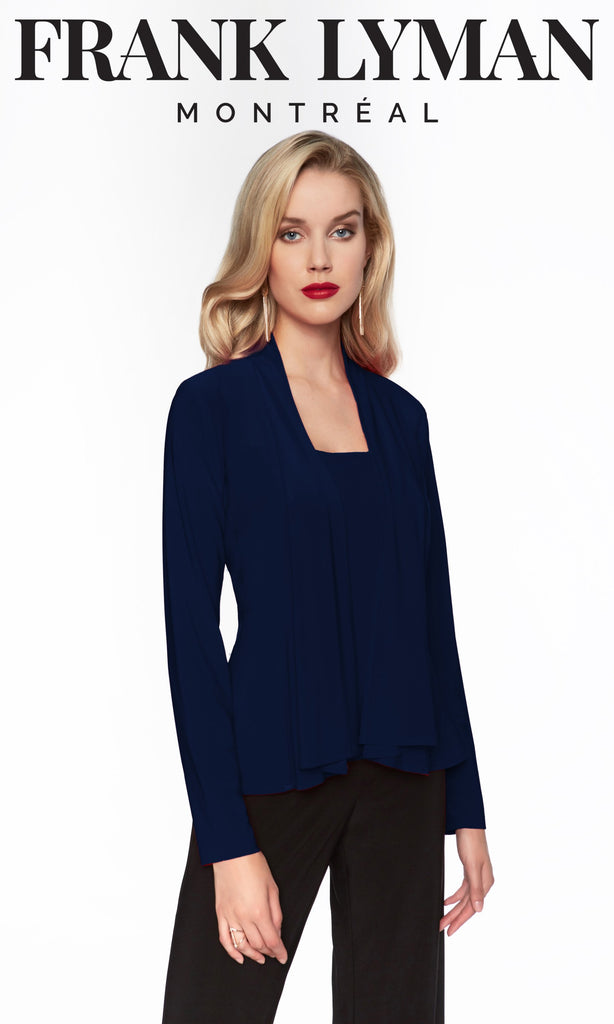 Pardessus en Knit Frank Lyman - 069 D NAVY - Gaby Style & Passion