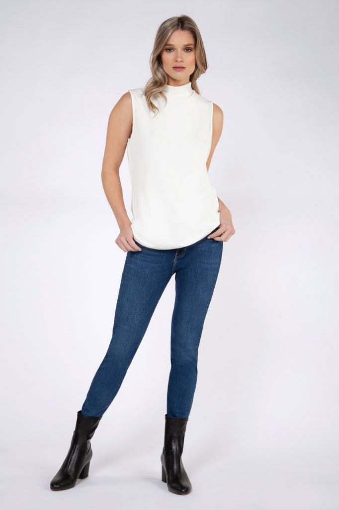 Camisole Black Tape - 1624047 T Blanc - Gaby Style & Passion