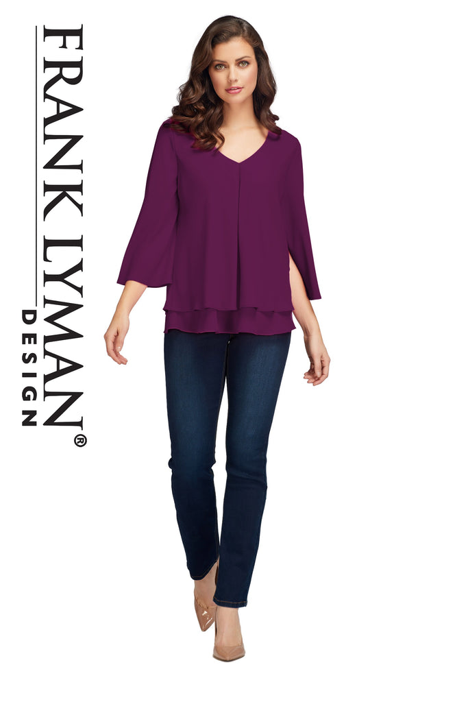 Blouse Frank Lyman - 176335 RAISIN - Gaby Style & Passion
