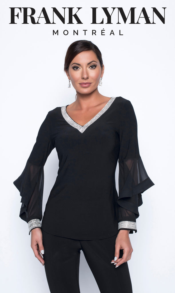 Chandail manches longues en Knit Frank Lyman - 199188 BLACK - Gaby Style & Passion
