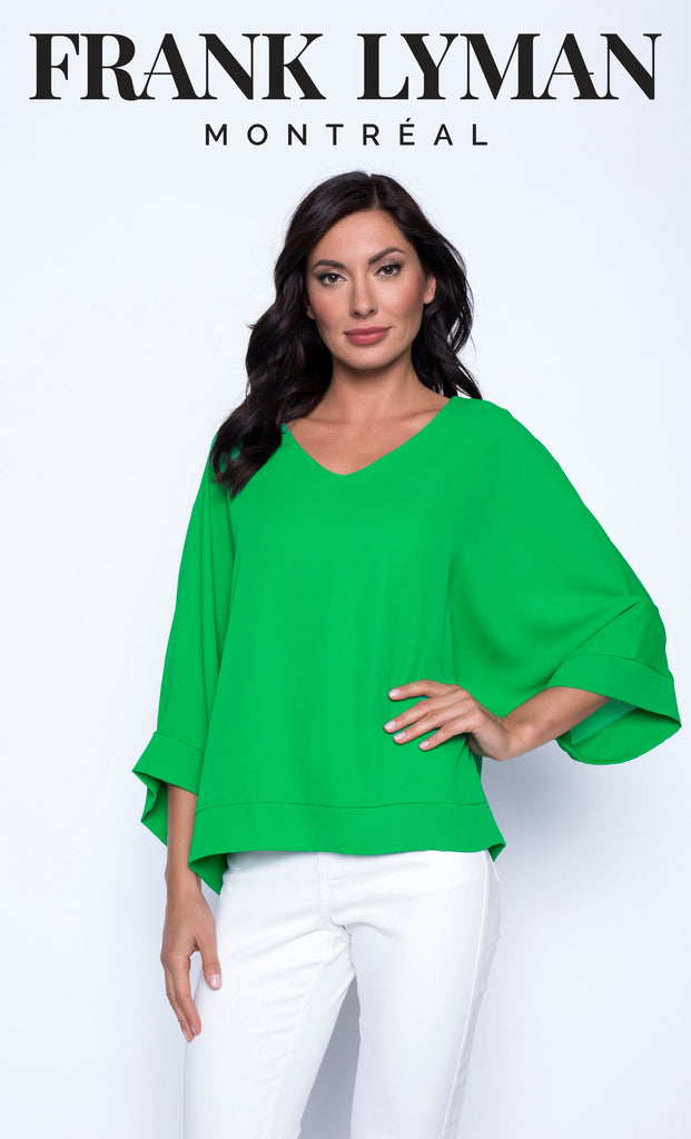 Blouse Frank Lyman - 201268 GREEN - Gaby Style & Passion