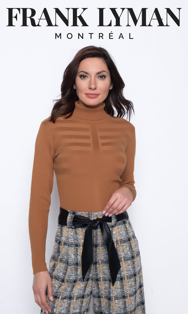 Chandail manches longues en Knit Frank Lyman - 203176U CHESTNUT - Gaby Style & Passion