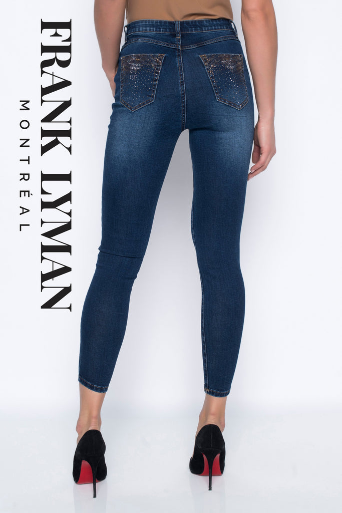 Pantalon denim Frank Lyman - 203181U DBLU/TOP - Gaby Style & Passion