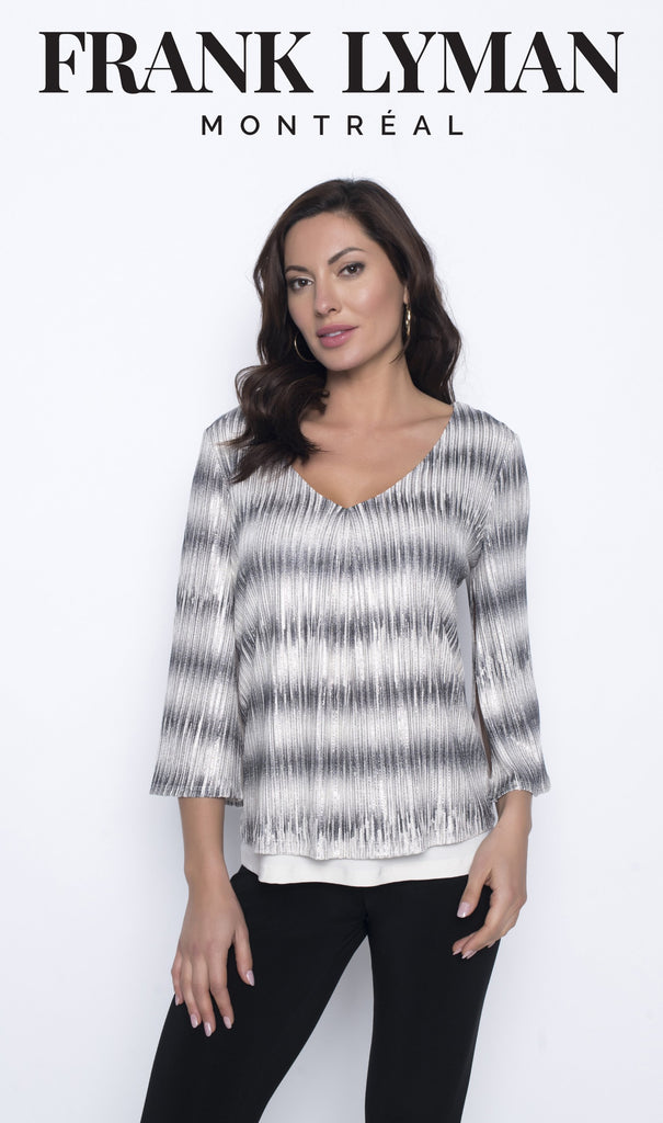 Chandail manches longues en Knit Frank Lyman - 203326 VANI/GRY - Gaby Style & Passion