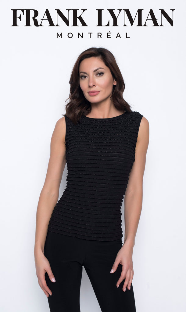 Camisole en Knit Frank Lyman - 203644 BLK/GOLD - Gaby Style & Passion