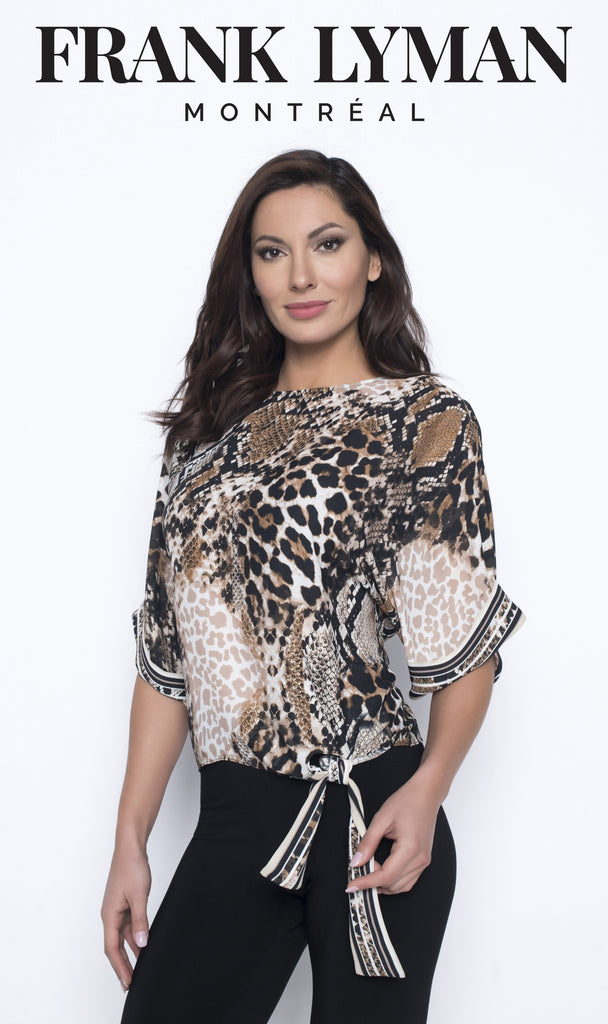 Blouse Frank Lyman - 203774 CAM/BLA - Gaby Style & Passion