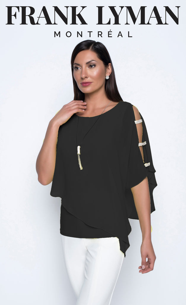 Blouse Frank Lyman - 208257 BLACK - Gaby Style & Passion