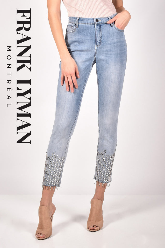 Pantalon denim Frank Lyman - 211102U L BLUE - Boutique Gaby
