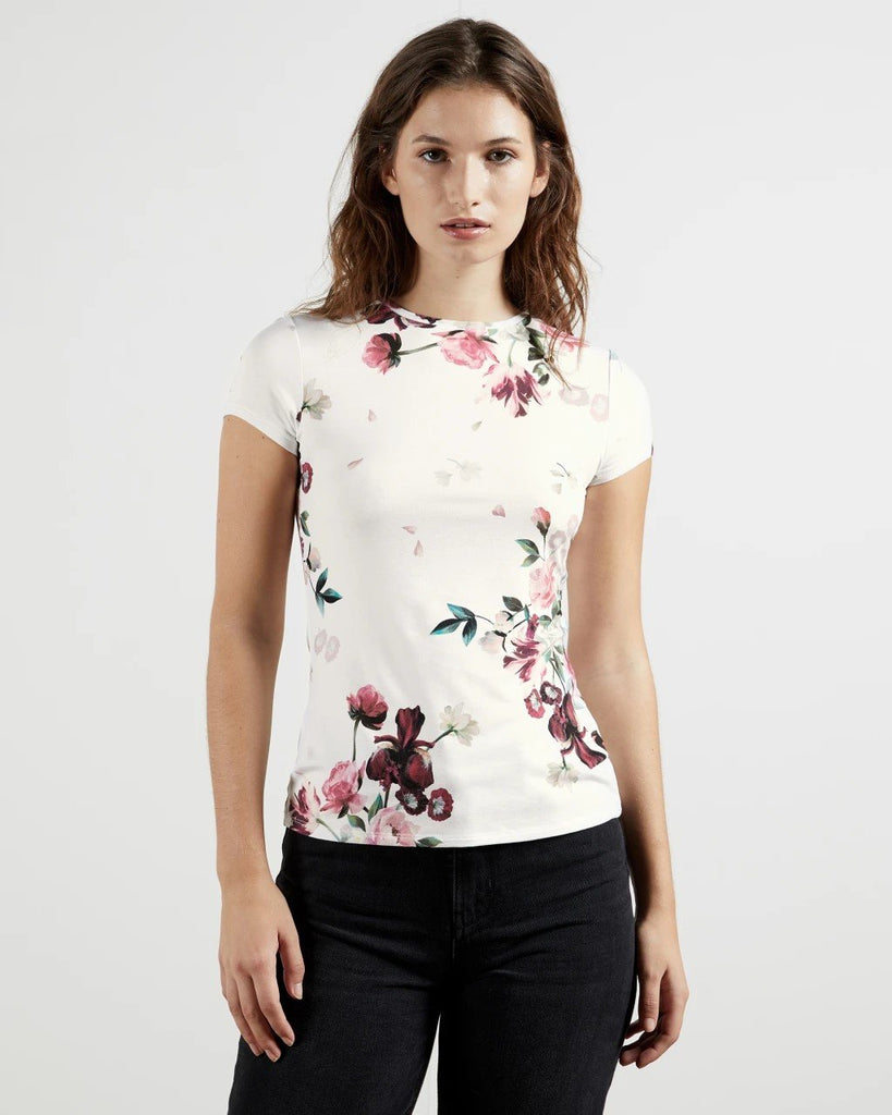 Chandail manches courtes Ted Baker - 247575 Blanc - Gaby Style & Passion