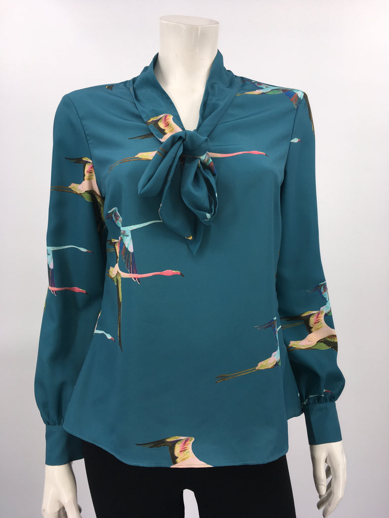 BLOUSE TED BAKER - 150438 TEAL BLUE