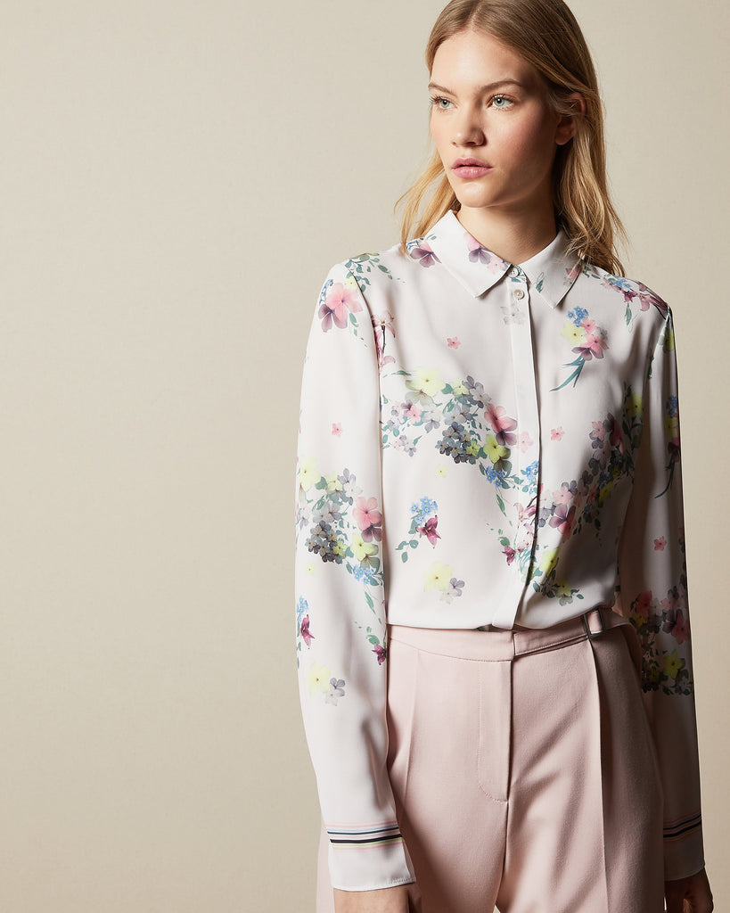 Chemise manches longues Ted Baker - Aadele Ivoire