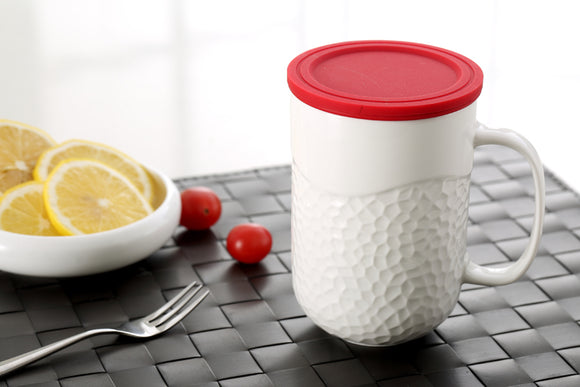 Tea Mug with Infuser Red