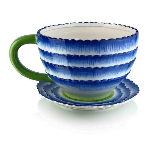Sea Wave Tea Cup Planter