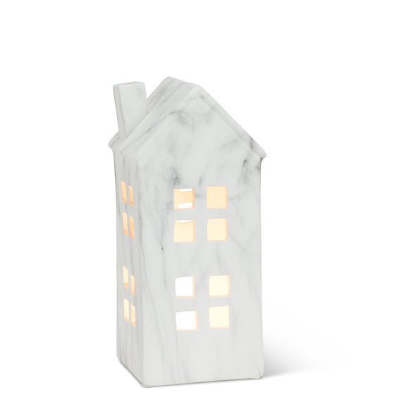 Medium Faux Marble Finish House Lantern 11