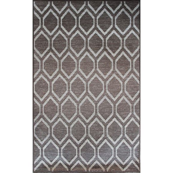 Art. Silk Diamond Taupe/Brown 5X8
