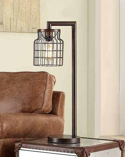 Wire Cage Table Lamp 28